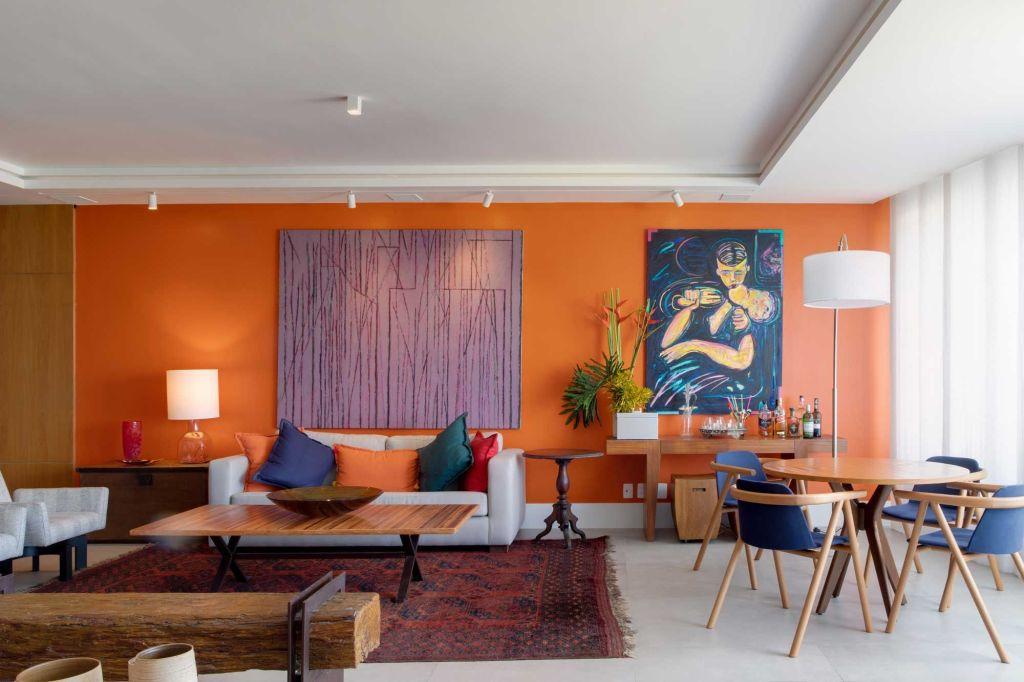 Apartamento Chicô Gouvêa - sala de estar colorida - CASACOR RJ 2021