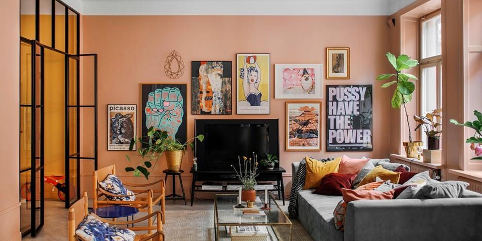 decoração; cor pêssego; inspirações; arquitetura; sala de estar; sala de jantar; cozinha; casa; apartamento