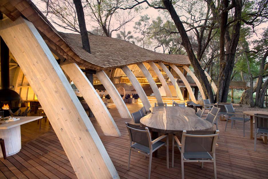 hotel de luxo; sustentabilidade; arquitetura sustentável; africa; savana africana; turismo