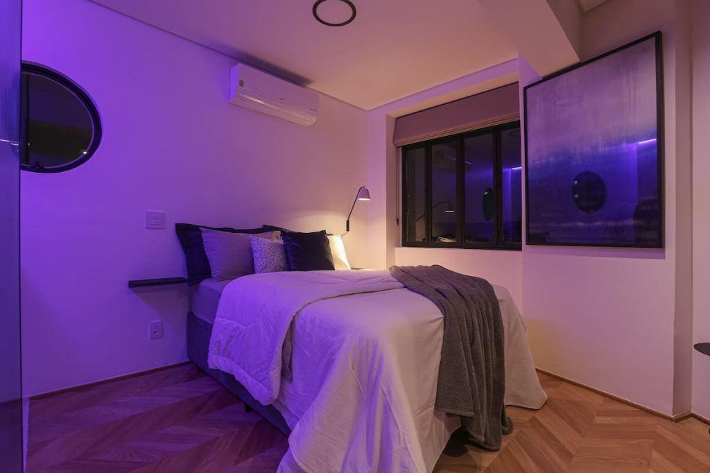 quarto de casal art deco airbnb