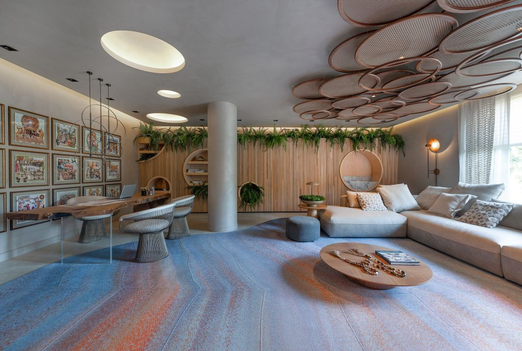 Sala Íntima da Arquiteta - Anna Maya. Projeto da CASACOR Santa Catarina 2021.