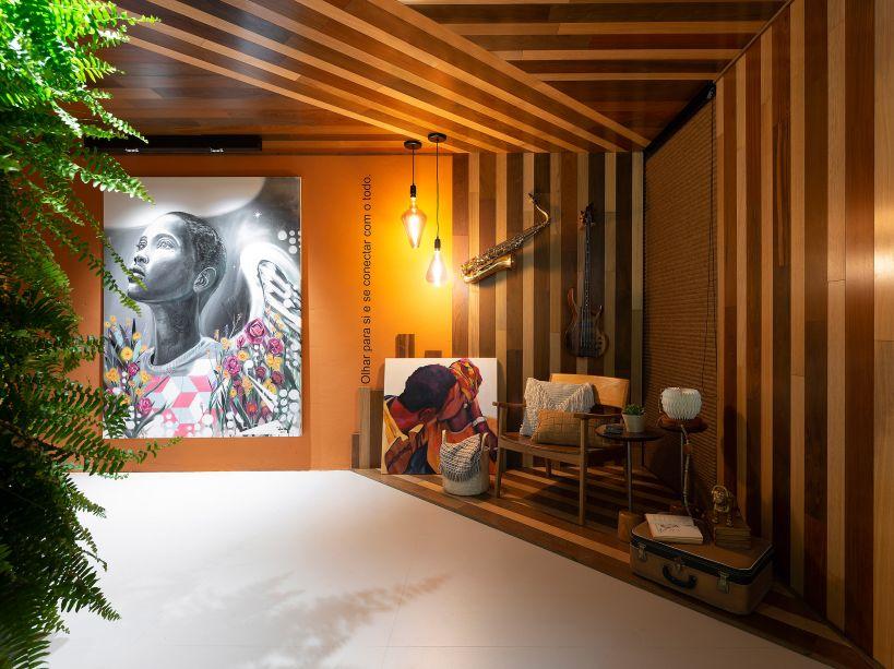 ATrajetóriah! - Vanessa Buonomo e Gabriela Bosco Dutra. Para ressignificar o que importa, dando luz ao que é fundamental para uma vida plena, este projeto traz a alegria das cores e da arte para dentro de casa, junto com o aconchego da madeira e das tramas. A intenção é lembrar que, por mais complexa que seja a fase que se está vivendo, nunca devemos parar de sonhar.