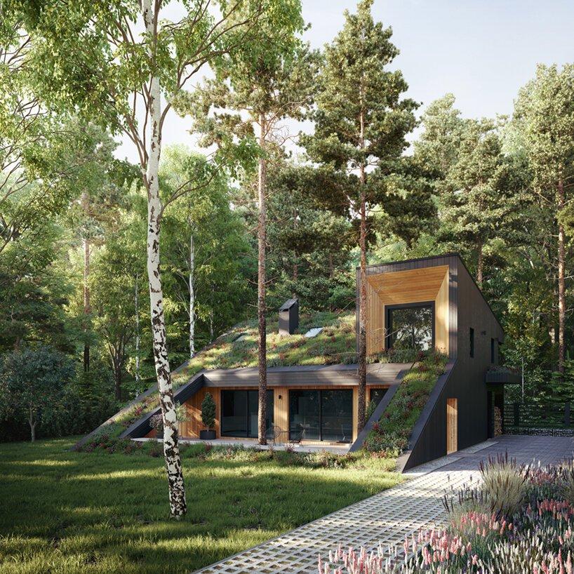 casa de madeira; casa na natureza; moscou; russia; sustentabilidade; paisagismo