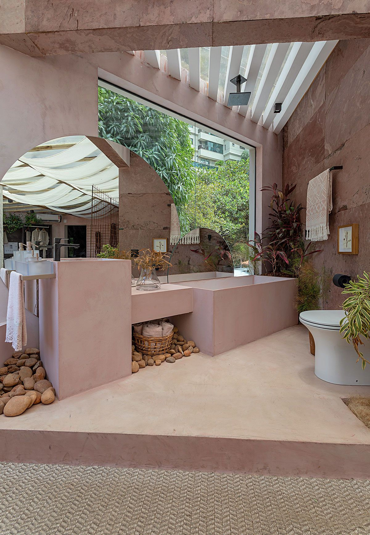 banheiro monocromatico jessica araujo casacor bahia 2019 colorido