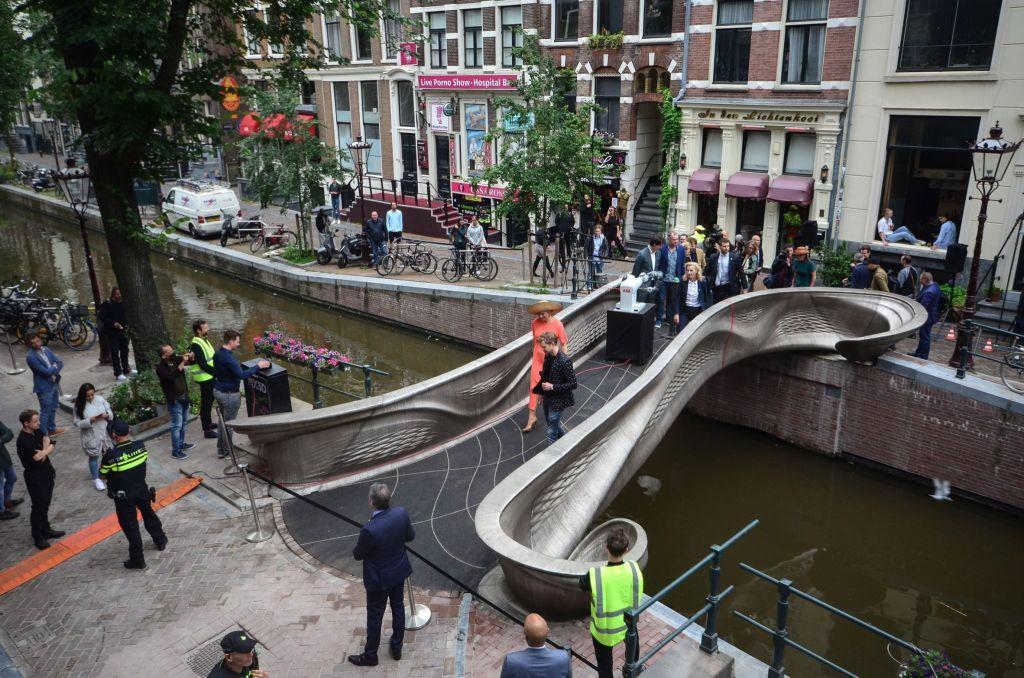 ponte 3d; amsterdam; engenharia; arquitetura; sustentabilidade