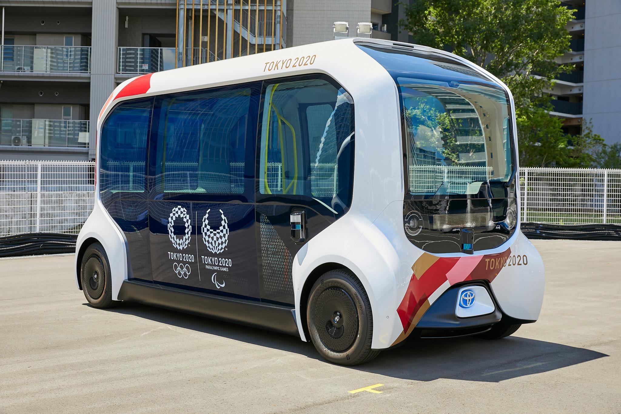 Carros elétricos na vila olimpica