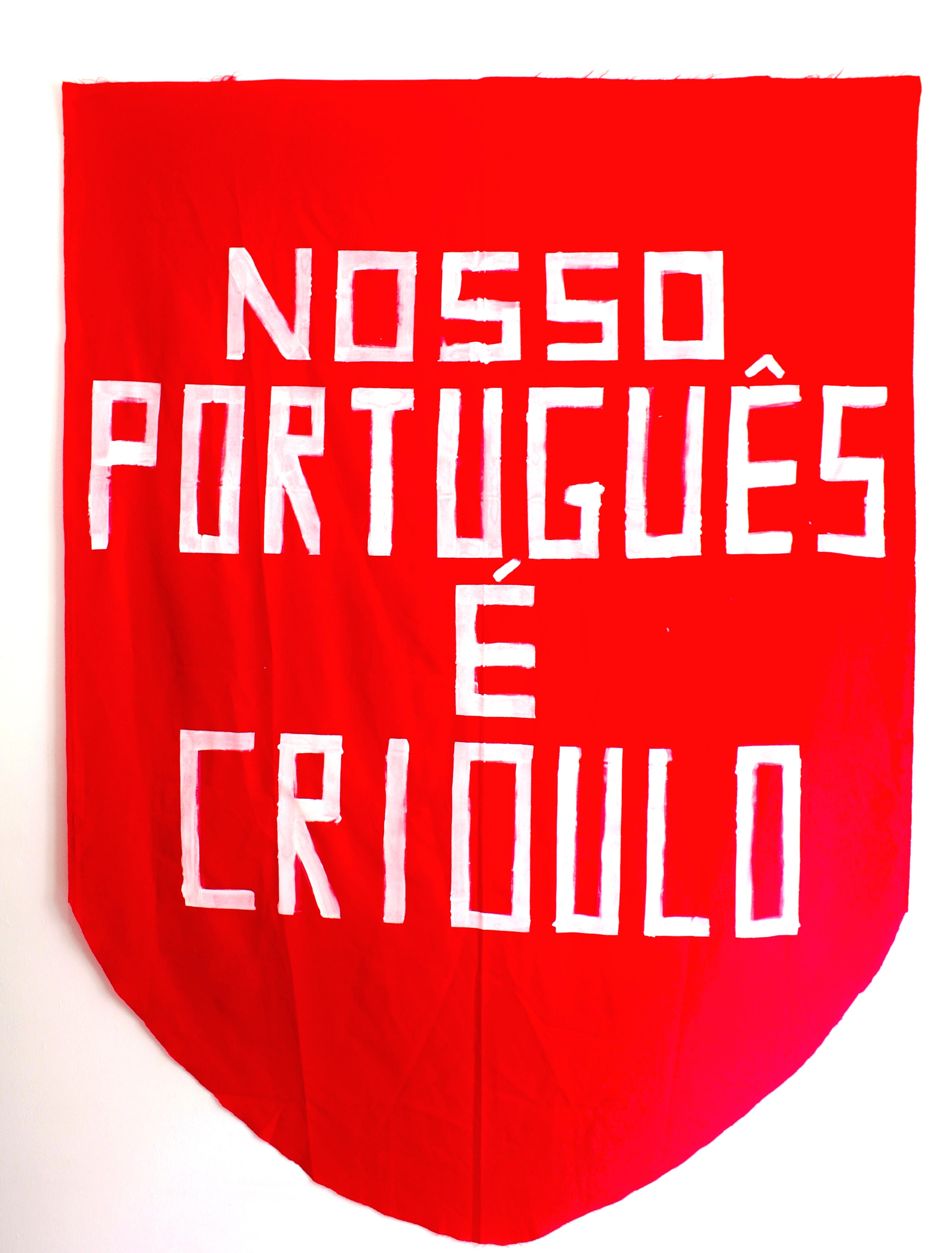 A língua como um estandarte Artista André Vargas Portasvilaseca Galeria