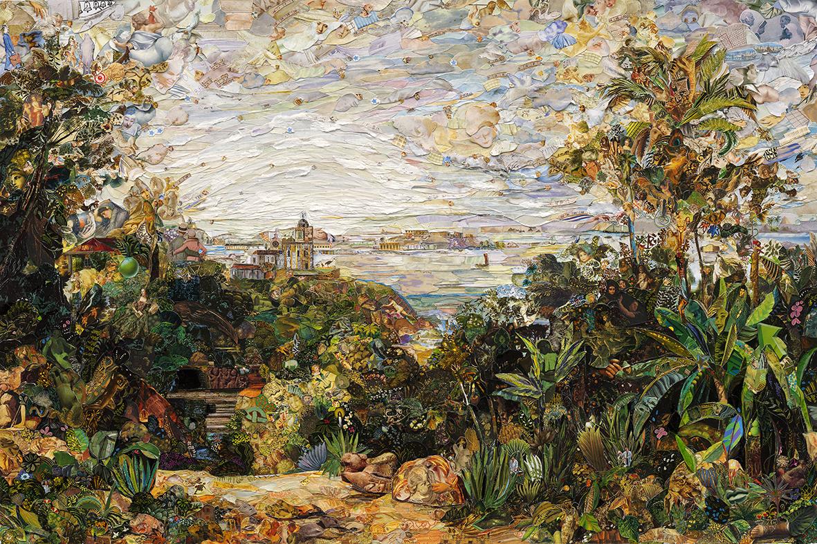View of Rio de Janeiro, a partir de Thomas Ender artista Vik Muniz Galeria Nara Roesler