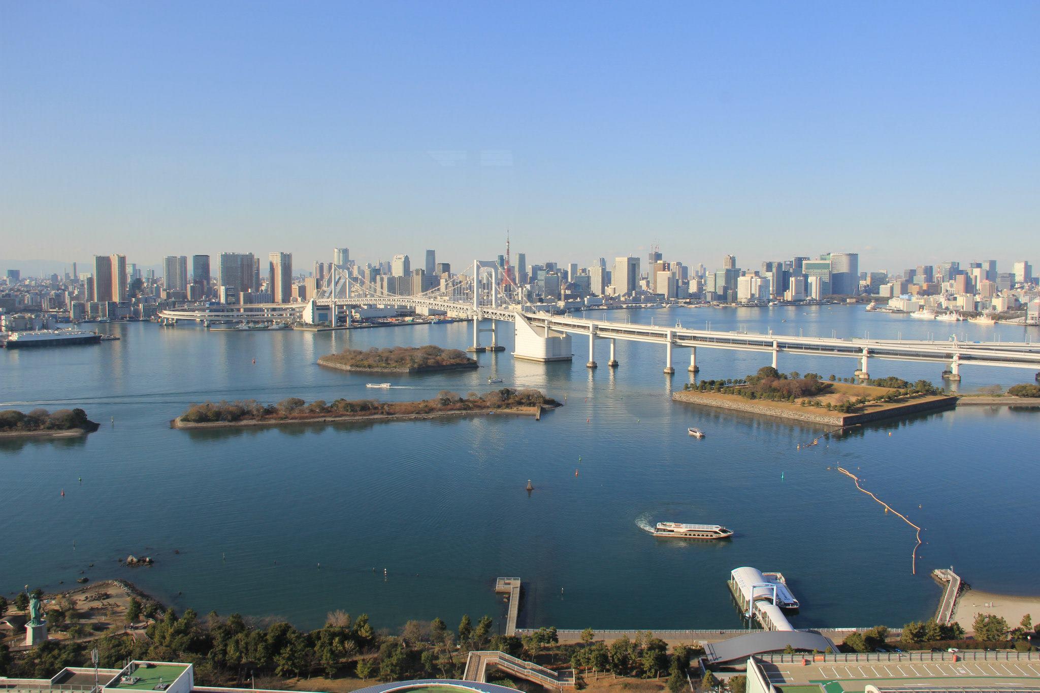 odaiba tokyo olimpiadas rainbow bridge
