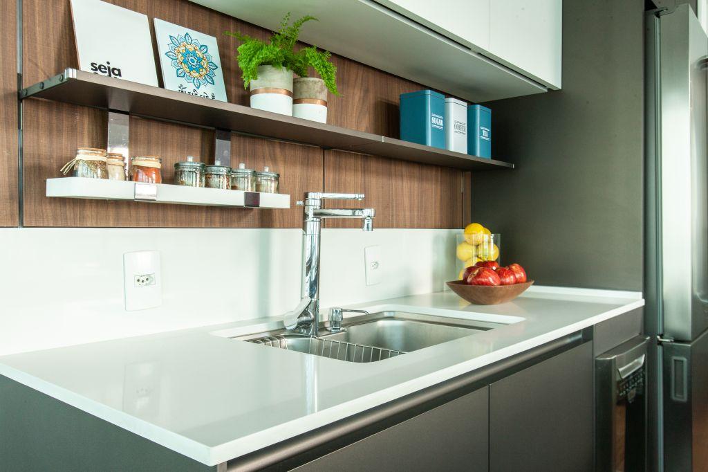 Cozinha apartamento contemporâneo