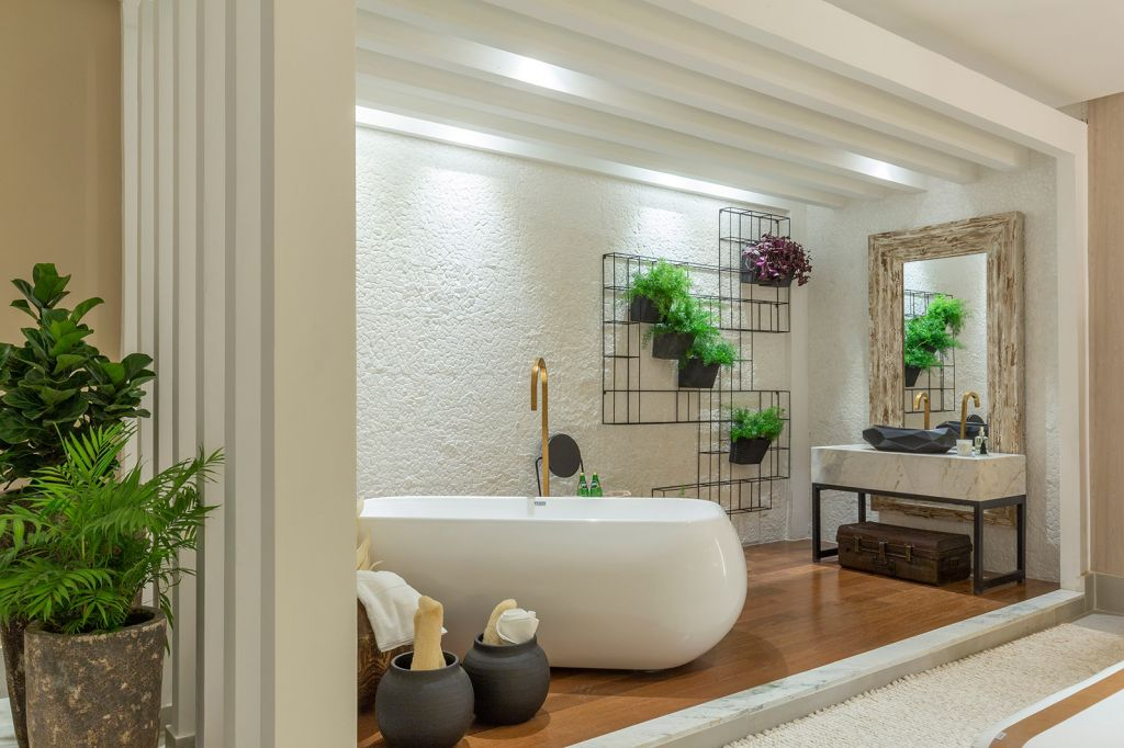 Eliane Mendonça suite sonhos casacor goias 2021 quarto cama decoração banheira