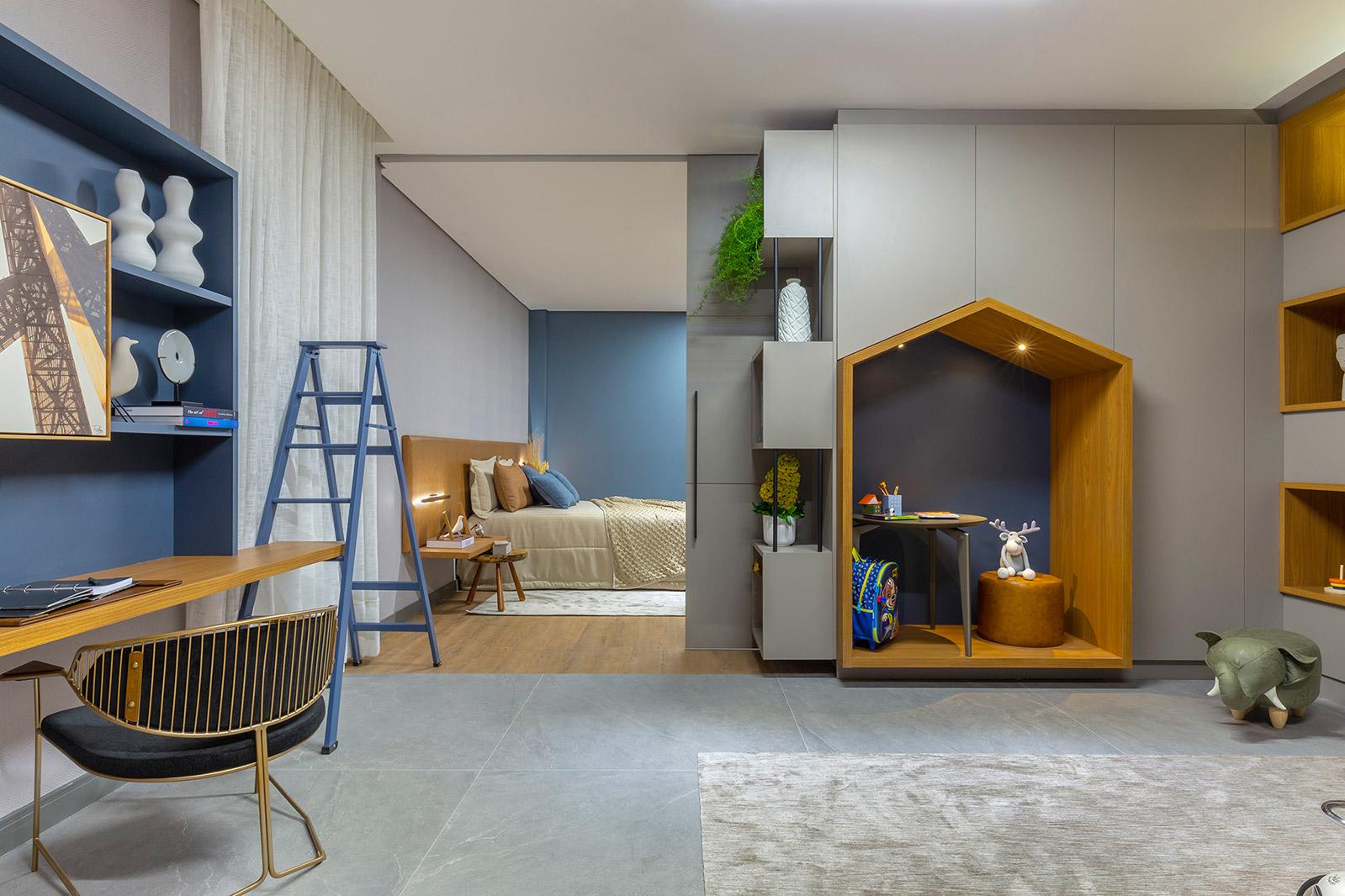 fernanda gemus quarto be blue casacor goias 2021 azul autismo marcenaria decoração