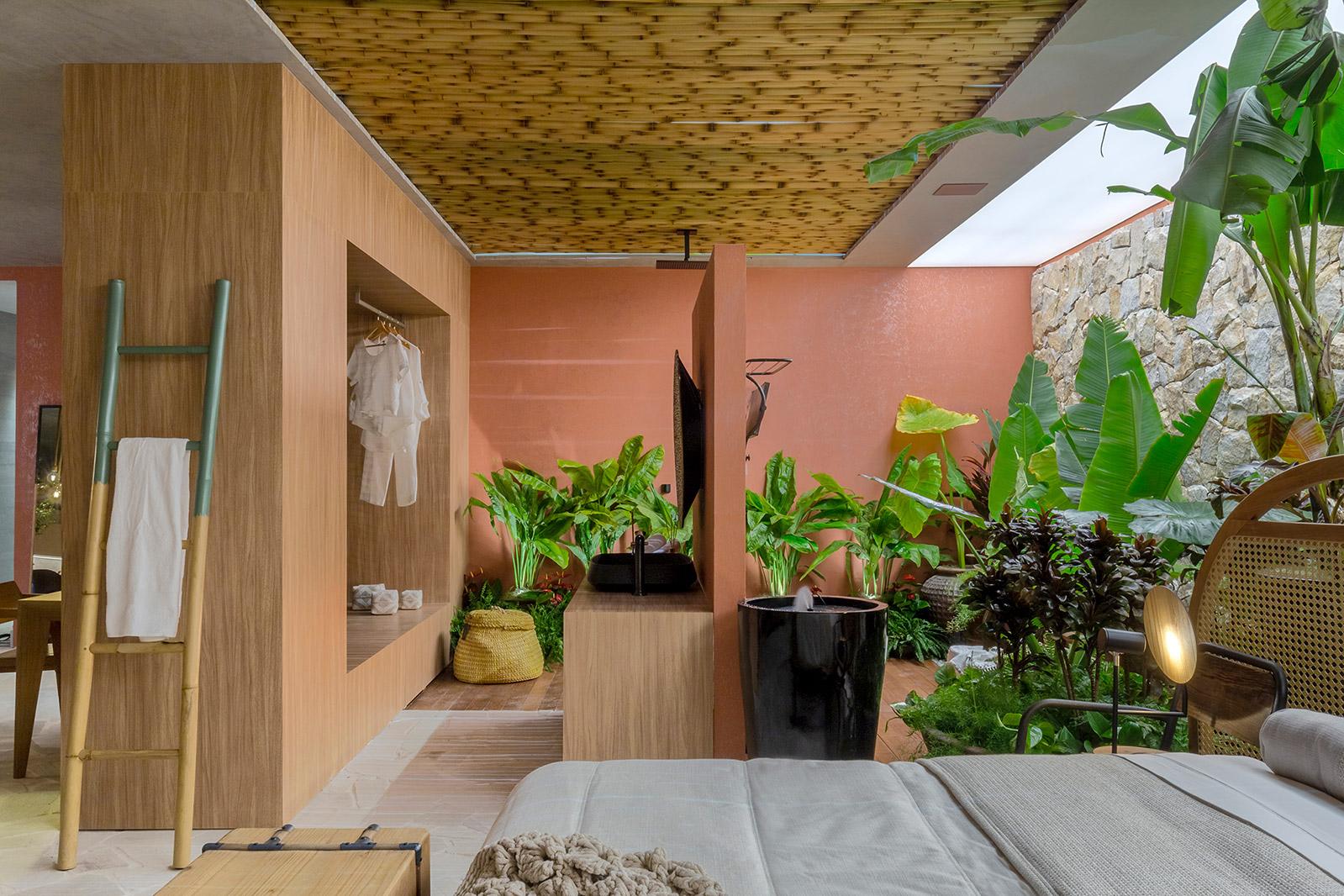 Casa de Raiz Mariana Mendonça Shoraya Canedo CASACOR Goiás 2021 quarto sala loft decoração design