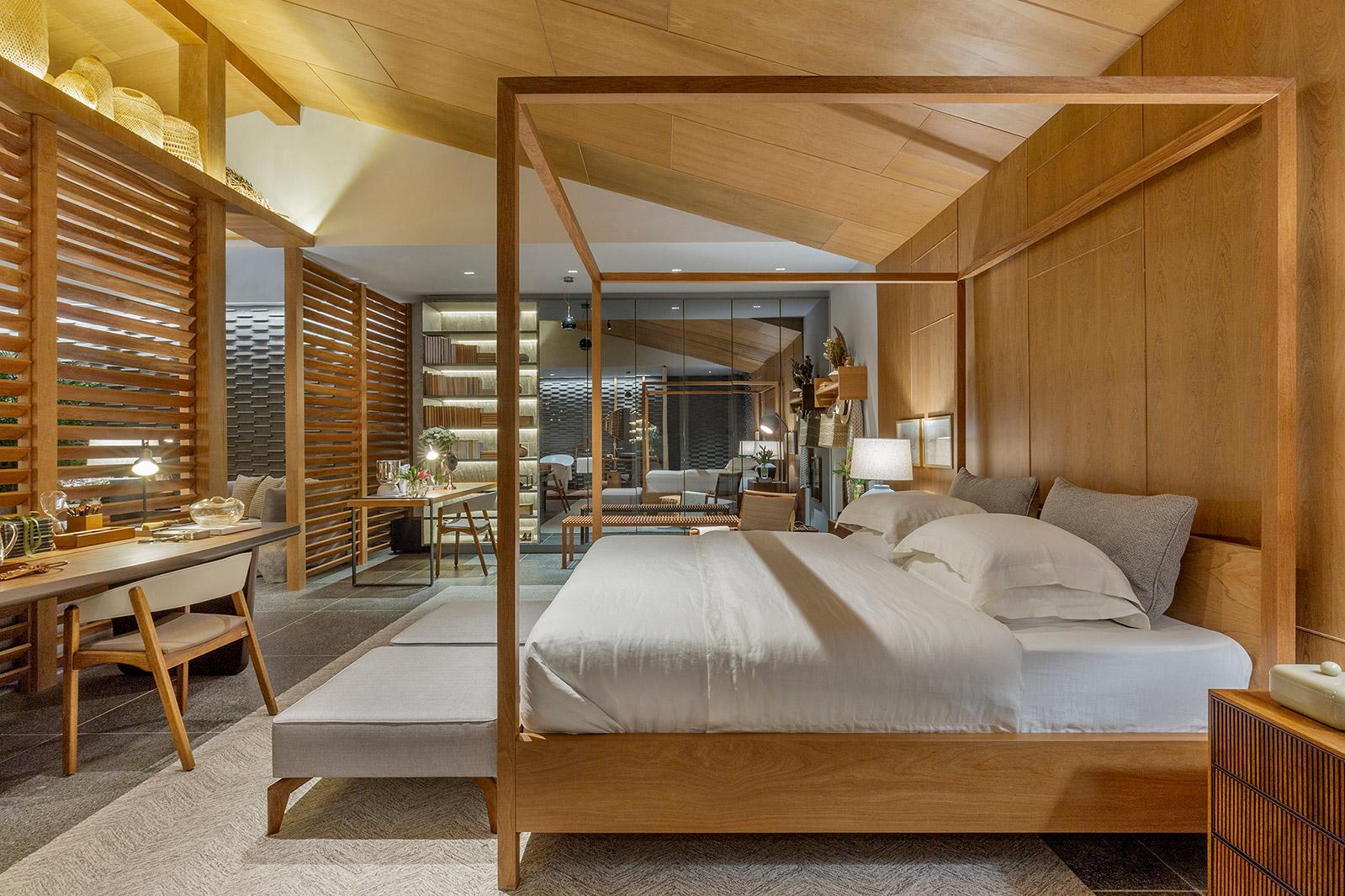 Nando Nunes Casa Cinza Cerrado CASACOR Goias 2021 cozinha loft madeira iluminação