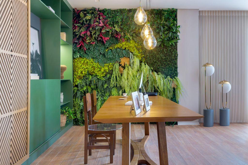 valentina craboledda casa cor goias 2021 home office essenziale escritorio varanda jardim vertical decoração