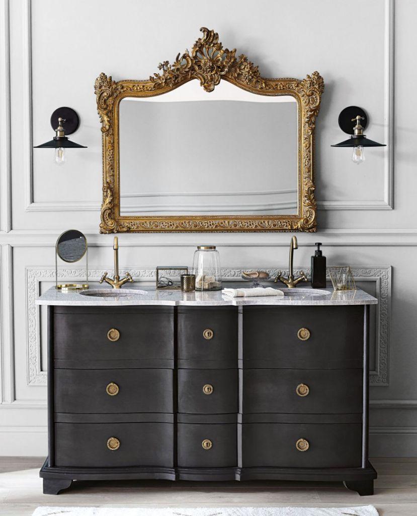 Banheiro moderno elegante clássico