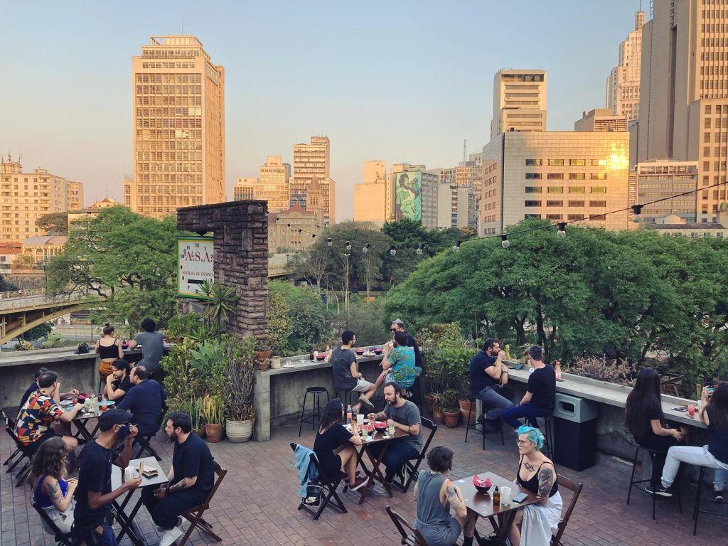 bar; restaurante; são paulo; centro; brinks; vista