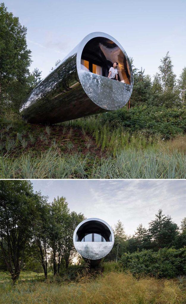 cabana em forma de tubo