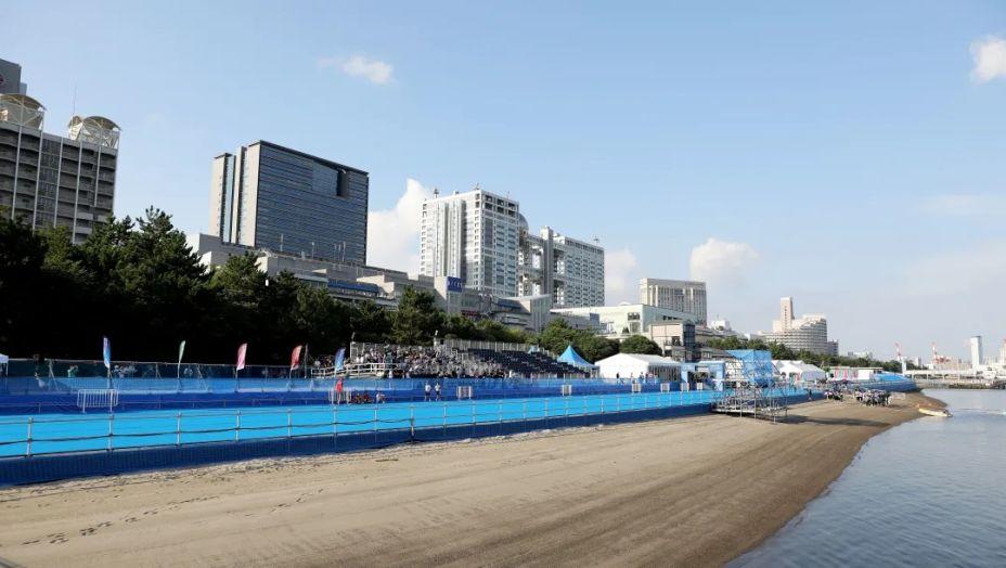 O Odaiba Marine Park sedia as competições de triatlo e maratona aquática durante os jogos de Tokyo 2020.