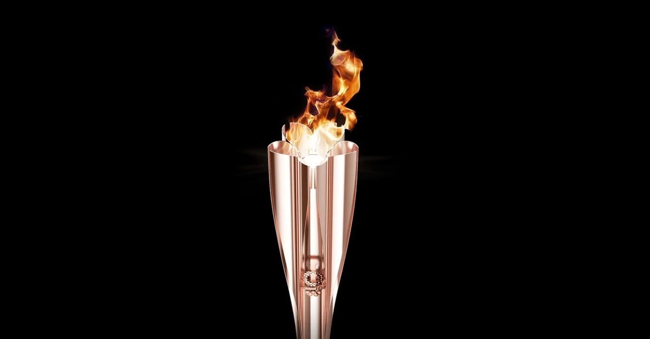 Tocha olímpica dos jogos de tokyo 2020