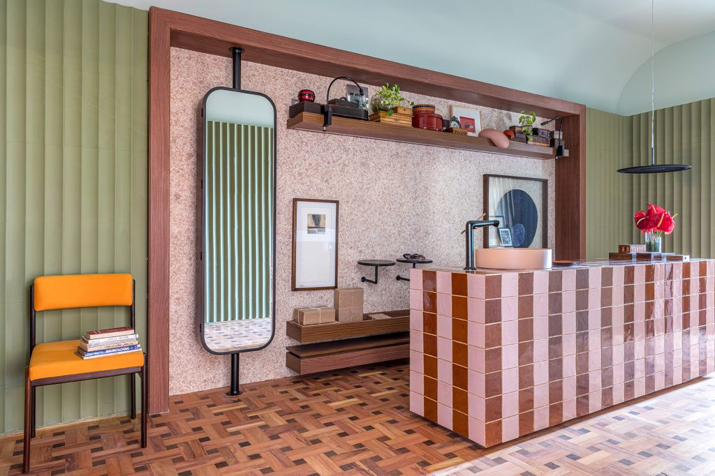Kika Tiengo - Hall Abluo, projeto da CASACOR São Paulo 2021.