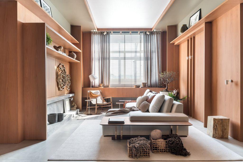 Estar Íntimo Duratex Alessandro Cavalcanti Ricardo Makhoul CASACOR Paraná 2021 sala sofá decoração design loft