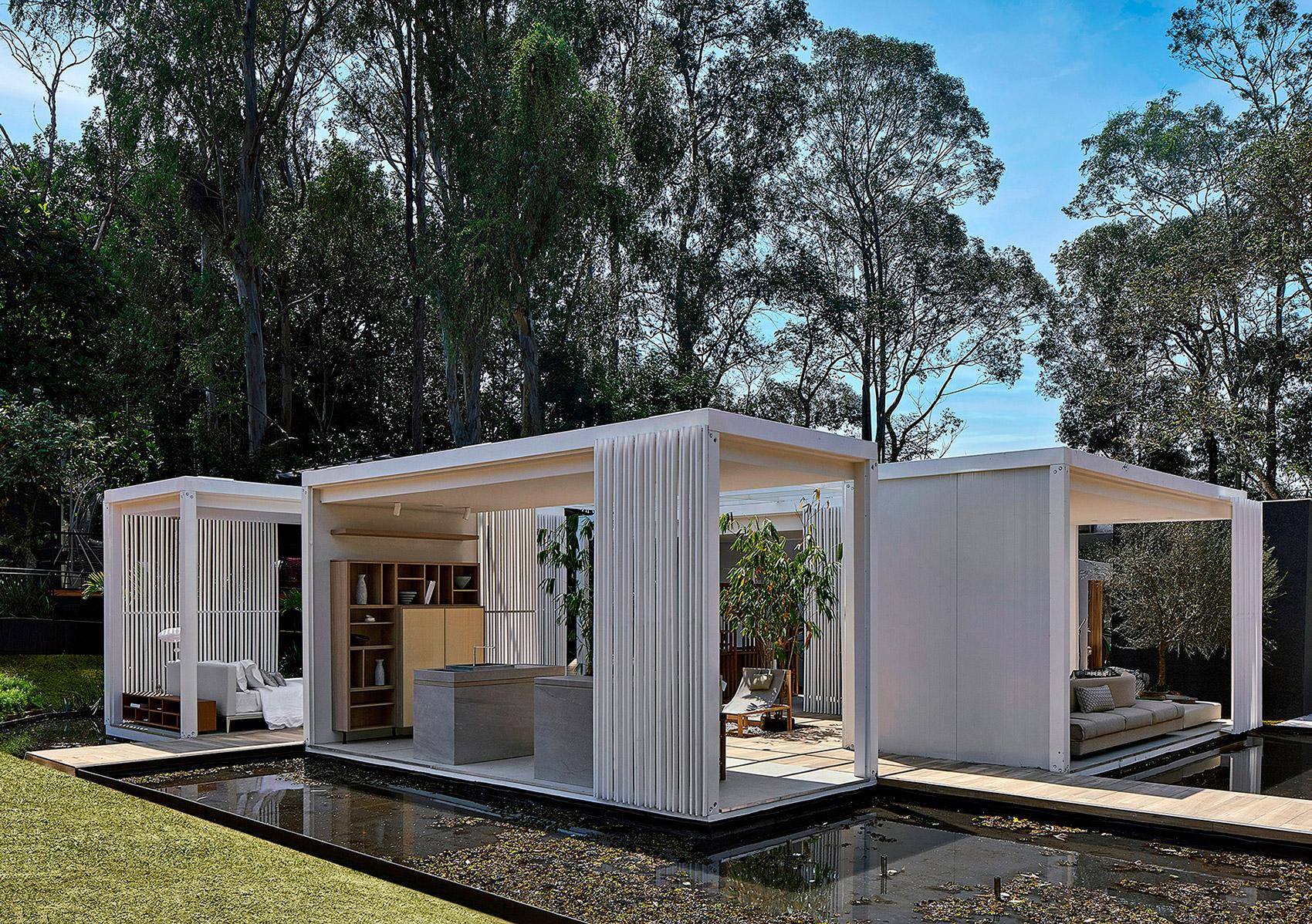 Espelho D'Água Mini Pavilhão Cristina Menezes Minas Gerais 2021 modulo conteiner arquitetura decoração