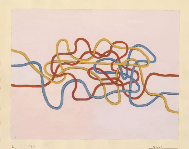 Anni Albers, Knot 2 , 1947. © 2017 The Josef and Anni Albers Foundation / Artists Rights Society (ARS), Nova York Foto: Tim Nighswander / Imaging 4 Art.