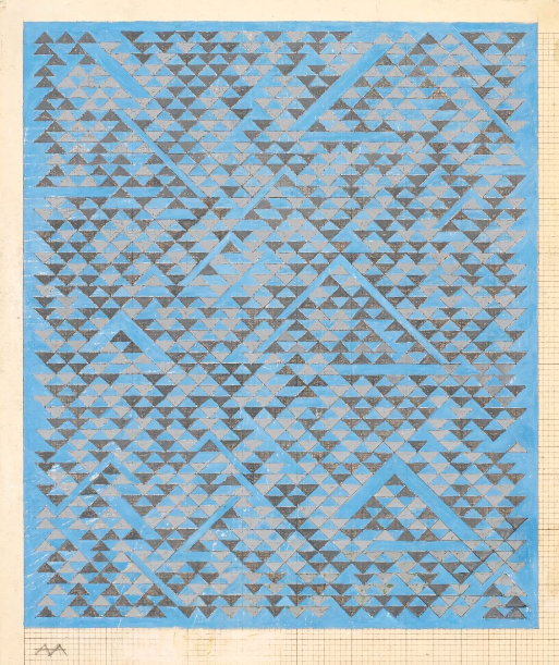 Anni Albers, Study for A , 1968. © 2017 The Josef and Anni Albers Foundation / Artists Rights Society (ARS), Nova York Foto: Tim Nighswander / Imaging 4 Art.