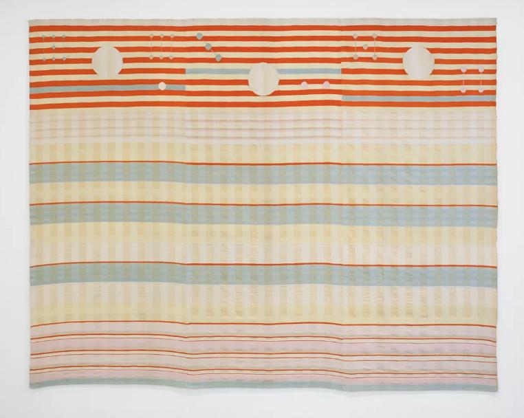 Benita Koch-Otte, Woven Wall Hanging, 1923-24. Fabricado por Bauhaus Weaving Workshops, Weimar.