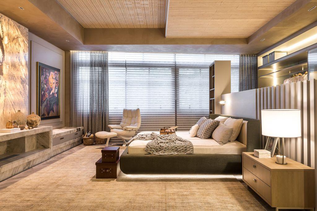 Quarto do Casal Reveev Viviane Busch CASACOR Paraná 2021 dormitório home office closet cama decor decoração