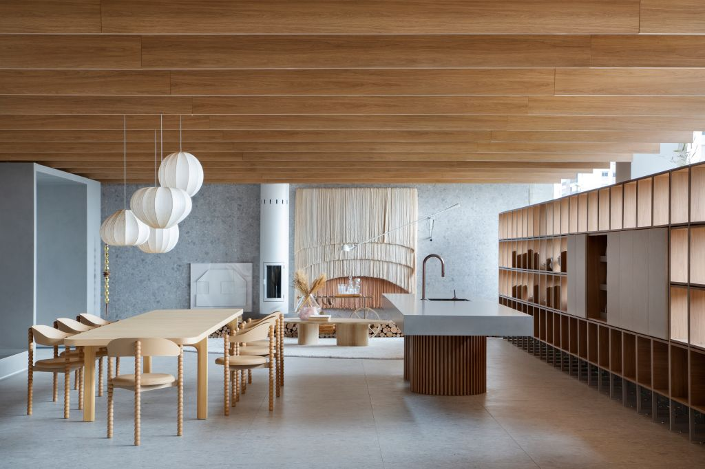 Très Arquitetura - Aconchegos Portinari, ambiente da CASACOR São Paulo 2021.
