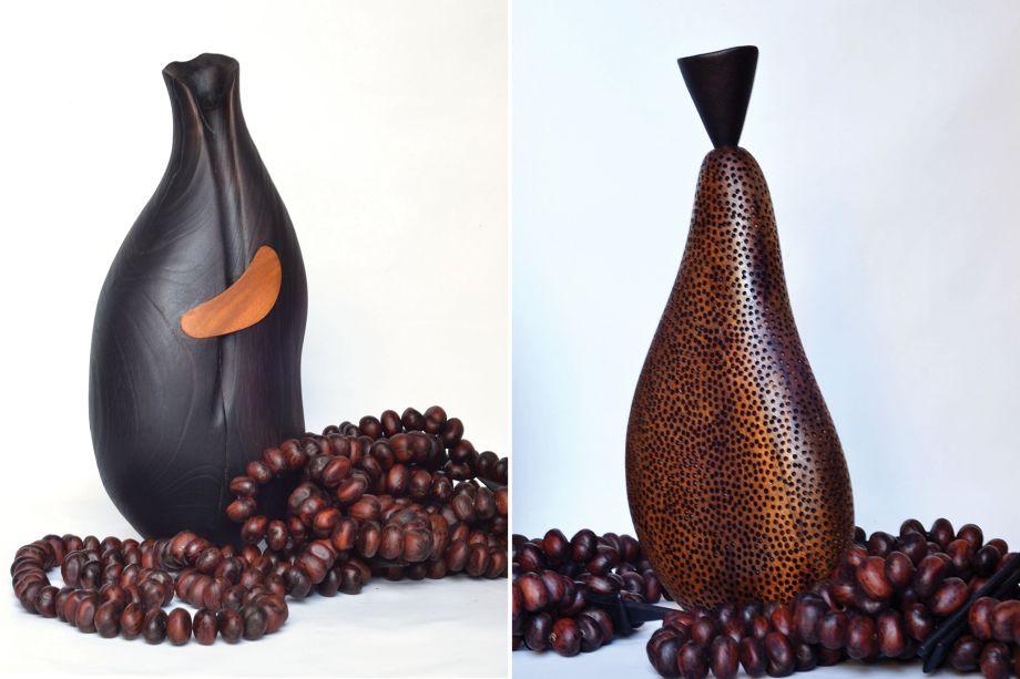 Oca Design Brasileiro, Objeto Folha (à esquerda) e Fruto II Dimensão (direita).